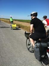 Cycling to American Falls On Frontage Road