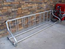"""Wheelbender"" bike rack"